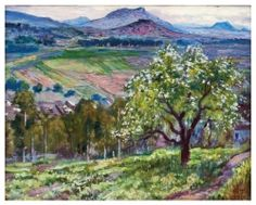 "Gerardo Murillo ""Dr. Atl"" El árbol glorido 1962. Morton Casa de Subastas - Arte Latinoamericano"