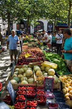 Carcassonne Market - France.  This market was just below the condo we rented (2013).