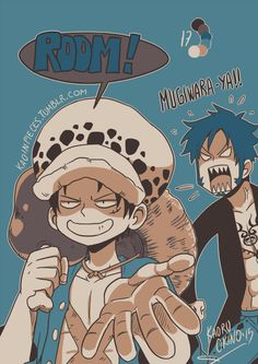 HAHAHAHA I'd definitely do that as well If I lived under the same universe as Law. Sorry, honey, you look so cool, Luffy just couldn't help it and so can't I.