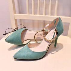 Sexy mulheres coisa high heel bombas de alta qualidade escritório das senhoras sapatos de casamento festa de bombas de couro moda dedo apontado nu em Bombas das mulheres de Sapatos no AliExpress.com | Alibaba Group