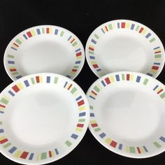 multiples avail Corelle WOODLAND BROWN Set of 4 Luncheon Plates 8.5/""