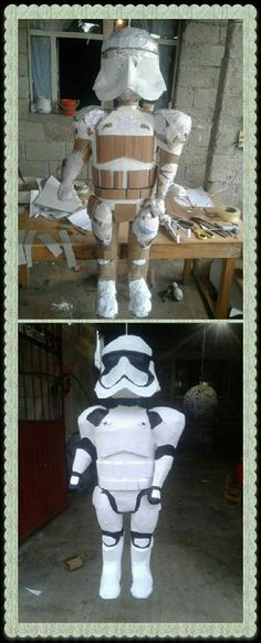 Star Wars Pinata, Lego Star Wars, Cardboard Crafts, Paper Crafts, Princess Pinata, How To Make Pinata, Anna Disney, Paper Mache Sculpture, Pinata Party