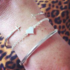 stack em up! / image via: @harlemrose_ #dogeared #bracelets