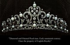 Diamond e Pearl Tiara, início do século 19 (House of Kahn na década de 70) por Divonsir Borges