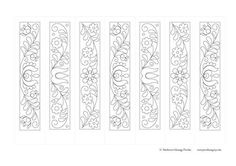 Border Embroidery Designs, Pyrography, Adult Coloring Pages, Wood Carving, Bookmarks, Painted Furniture, Folk Art, Crafts For Kids, Diy
