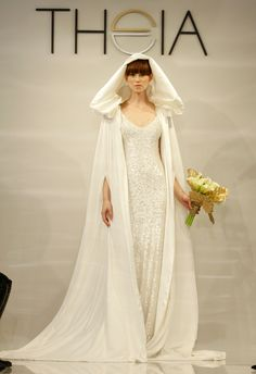 LOVE this romantic cape - perfect for a Winter wedding!