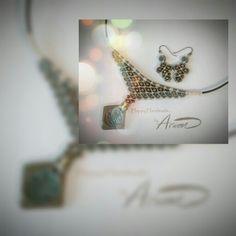 Macrame necklace & earrings