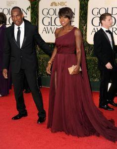 One Shoulder Viola Davis Celebrity Dress