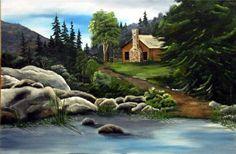 Acrylic Paintings - Blue Ridge Mountains  Rita Buttermore
