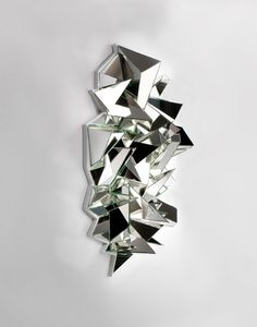 Miroir Froissé (Crumpled Mirror) by Mathias Kiss [Wallpaper Design Awards 2013 winner] Mathias Kiss, Mirror Image, Mirror Mirror, Wall Mirrors, Deco Design, French Artists, Wall Sculptures, Oeuvre D'art, Installation Art