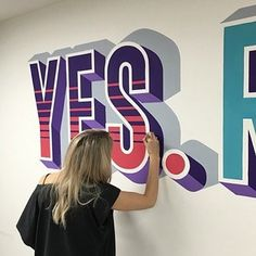 Gorgeous hand painted mural by @i_am_lillylou   #typegang if you would like to be featured   typegang.com   typegang.com #typegang #typography