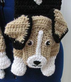 Crochet Beagle Scarf