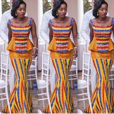 Traditional Ghanaian Attire Ghanaianwedding Dresses Design Africa Fashion African Print Ethnic Style