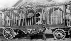 This hippo den wagon was owned by The Great Wallace Circus. It was made by Sullivan & Eagle Works Peru, Indiana in the very early Circus City, Old Circus, Big Top Circus, Circus Train, Vintage Clown, Circus Performers, Sideshow, Early American, Wizard Of Oz