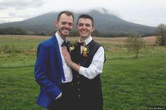 Wedding photography in front of mountains, Virginia wedding photo ideas