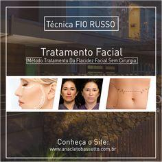 Já conhece o método para eliminar as rugas na pele sem usar cirurgias?  Conheça essa técnica em: www.anacletobassetto.com.br/blog/120-fio-russo