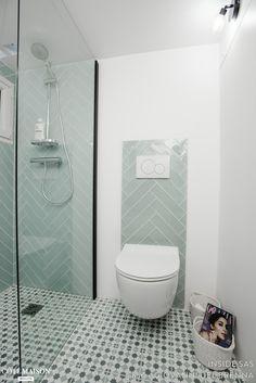 Basement of 23 totally renovated, INSIDE SAS - Côté Maison Carrel . Basement Renovations, Bathroom Renovations, Home Remodeling, Family Bathroom, Basement Bathroom, Bad Inspiration, Bathroom Inspiration, Bathroom Design Small, Bathroom Interior Design