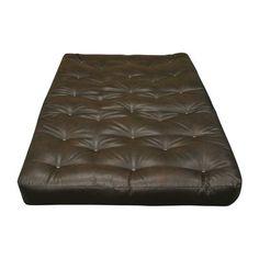 Foam And Cotton Loveseat Size Futon Mattress Upholstery Dark Brown