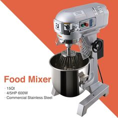 Commercial Dough Food Mixer Gear Driven 600W 15Qt Stainless Steel Pizza Bakery · $595.79 Pizza Dough Mixer, Gear Drive, Food Service, Espresso Machine, Bakery, Commercial, Stainless Steel, Restaurant, Ebay