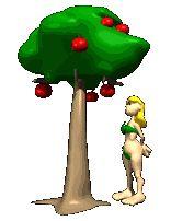 Eva y manzano