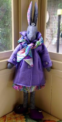 """Today is my turn on the """"Making Luna Lapin"""" blog hop.  Sew and dress Luna, a quiet and kind rabbit with impeccable taste."""