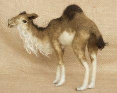 Ameenah the Arabian Camel Needle felted animal von TheWoolenWagon, $110.00