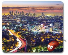 Mousepad Computer Mouse Pad Computer desk Office Decor Office Gifts Mouse Mat Graphic design gifts Los angeles California photography USA. Los Angeles, California, USA cityscape  Beautiful Photo image amazing view of Los Angeles city, California, USA cityscape.