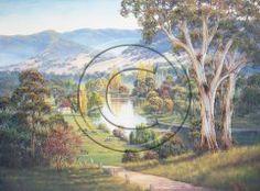 Autumn Reflections - Lacmalac Blue Mountain, Reflection, Sunrise, My Arts, Autumn, Landscape, Gallery, Artist, Painting