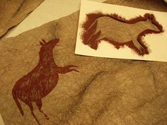 great project inspired by the cave paintings of lascaux