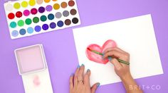 How to DIY Watercolor Valentines
