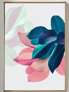Nordic Art Paintings Wall Pictures For Living Room Posters Plants Leaves Wall Art Canvas Painting Posters And Prints Unframed Nordic Art Paintings Wall Pictures For Living Room Posters Plants Leaves Wall Art Canvas Painting Posters And Prints Unframed Leaf Wall Art, Leaf Art, Canvas Wall Art, Canvas Frame, Blue Canvas, Images Murales, Image Deco, Motif Art Deco, Pink Plant