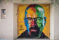 Walter White - By Axe Colours in Barcelona, Spain - http://streetiam.com/walter-white-by-axe-colours-in-barcelona-spain/