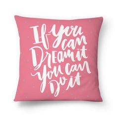Almofada Dream it, Do it de @letraporletra | Colab55
