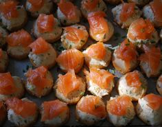 Yum yum yum. All of these smoked salmon canapés just for us! We love Christmas canapés at #Patepate  www.patepate.co.uk