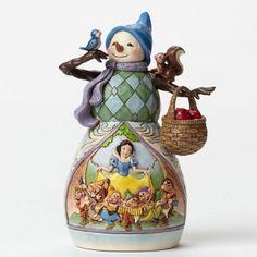 Hi Ho Holidays-Snow White Snowman Figurine
