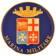 Fermacarte in metallo smaltato Marina Militare Italiana