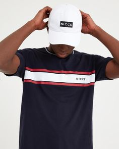 NICCE Mens Varsity T-shirt Navy New mens NICCE summer 2019 collection Mens t-shirt crew neck short sleeves machine wash light weight cotton Navy colour with nicce logo on chest Style Varsity Stripe panel styling Fake Tan, Navy Color, Underwear, Short Sleeves, T Shirt, Men, Tops, Style, Fashion