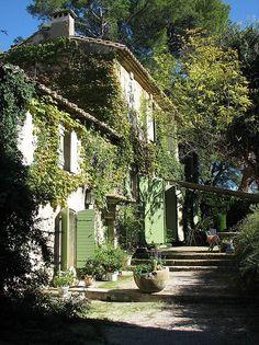 The garden and the house - I'll take it!   Jardin du Vallon Raget à Saint-Etienne-du-Grès, Bouches-du-Rhône by hortulus, via Flickr
