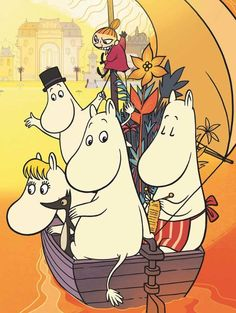 The #Moomins set sail for the Riviera, where Snorkmaiden is dazzled by the attentions of a playboy and #Moomin learns that jealousy's sting is the most painful of all.