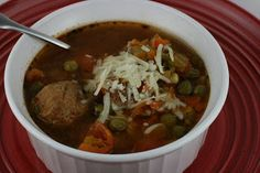 A Year of Slow Cooking: CrockPot Albondigas (Meatball) Soup Recipe