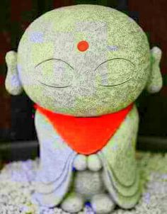 Buddhist Statue Jizo, Daisho-In Temple - Miyajima, Japan Banksy Posters, Buddha Zen, Baby Buddha, Buddha Face, Gautama Buddha, Little Buddha, Art Asiatique, Mindfulness Meditation, Meditation Space