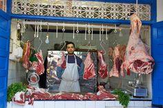 food market butcher essaouira morocco