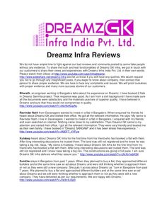 Dreamz infra fraud reviews and complaints