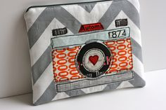 camera zip pouch by One ShaBby ChiCk, via Flickr