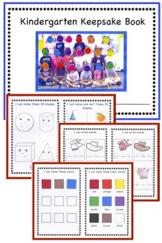 Reproduce a copy of this Kindergarten Keepsake book for each student in your class. The format allows for assessing the students in the first month of the school year and the last for many Common Core standards. The beginning assessment will give you knowledge of your students' incoming skill levels and the final assessment will show you, the children, and their parents the growth the students have made. ($)
