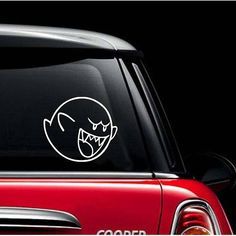 Vinyl Wall Word Decal  Super Mario Bros Boo Ghost Car Decal