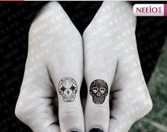 Hey, I found this really awesome Etsy listing at https://www.etsy.com/listing/180616547/skull-temporary-tattoos-finger-wrist-arm