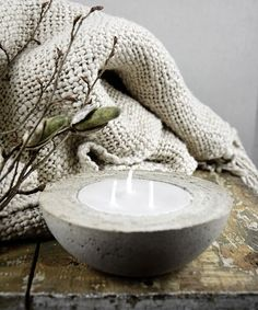 Kerzenschalen aus Beton giessen - So geht's DIY.