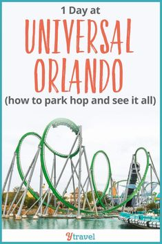 How to do 1 day at Universal Orlando Resort Florida. Tips on how to park hop, which Universal tickets to buy, what are the best Universal rides, how to save money and time at Universal Studios Orlando - a how to guide for a park visit with kids or without. See blog for all the details and the list of things to do that belong on your bucketlist if you only have one day. #travel #Orlando #universalstudios #universalorlando #Florida #vaaction #familytravel #universal #familytravel #familyvacation