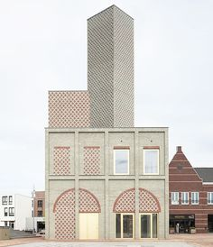 looking like an abstract object from afar, #architecture firm #monadnock has designed a landmark, brick building as part of nieuw bergen's village renewal plan in the netherlands. read more on #designboom!